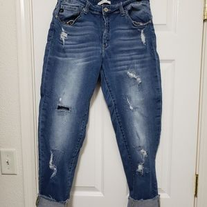 EUC Kancan Distressed Cropped Jeans Size 13
